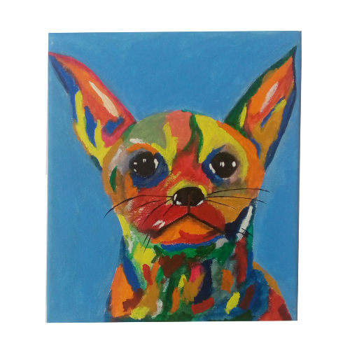 Catdog Handmade 10x12inch Acrylic On Canvas Painting With Stretcher Frame- Thejarvisgallery