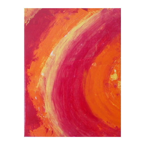 Le Soleil Sunburn Handmade Abstract Paintings 15x20inch Acrylic On Canvas With Stretcher Frame -thejarvisgallery