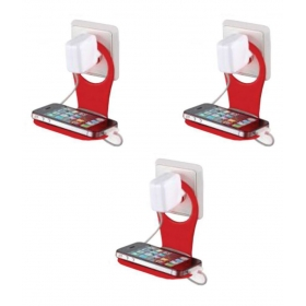 Mobile Charging Stand Wall Holder , Simple, Useful & Suitable For Almost All Mobile Phones-pack Of 3