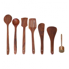 Desi Karigar Wooden Skimmers Set Of 7