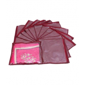 Maroon Saree Covers - 12 Pcs