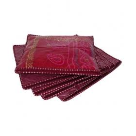 Maroon Saree Covers - 5 Pcs