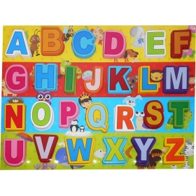 Abc Learning Alphabet Colorful Wooden Letter Blocks Toy With Wooden Tray For Kids