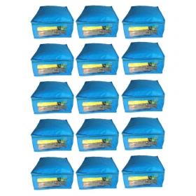 Blue Saree Covers - 15 Pcs
