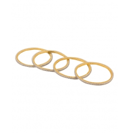 Metal Yellow Gold Bangle Set (pack Of 4)