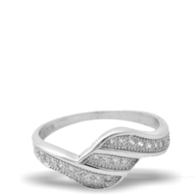 Platinum Plated Diamond Ring