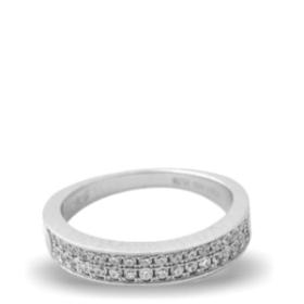 Platinum Plated Diamond Ring (aura Rings)