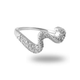 Platinum Plated Diamond Ring