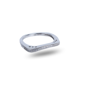 Floral Platinum Plated Ring
