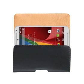 Belt Case For Motorola Moto G 2nd Gen 2014 Leather Carry Pouch Cover Clip Holder