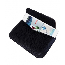 Horizontal Leather Carry Case For Intex Aqua I7 Mobile Cover Pouch Rich Holder