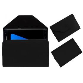 Premium Pouch Case For Samsung Galaxy S7 Edge Cover Black