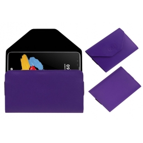 Premium Pouch Case For Lg Stylus 2 Cover Purple