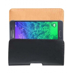 Case Leather Cover Pouch For Samsung Galaxy Alpha Mobile Pouch Holder