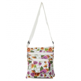 Canvas White Flower Bhavya Sling Bag