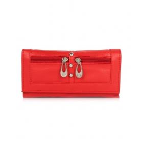 Six Pocket Red Clutch