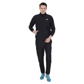 Adidas Black Polyester Inner Mesh Tracksuit