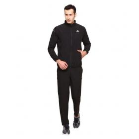 Adidas Black Polyester Lycra Tracksuits
