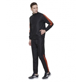 Adidas Black Polyester Tracksuit With Inner Net