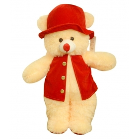 Beautiful Cream Modi Red Jacket Teddy Bear 70cm