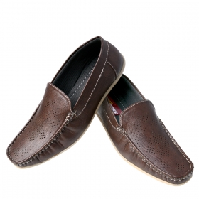 Sunbright Men's  Loafers Coffee-brown _6