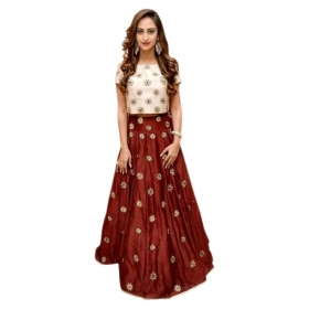 Bangalore Silk Unstitched Semi Stitched Lehenga