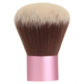 Almon Black Kabuki Brush With Blending Wedge Sponge