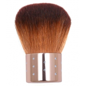 Almon Golden Foundation Kabuki Brush With Latex Free Blending Wedge Sponge