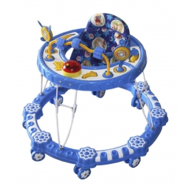 Blue Plastic Baby Walker