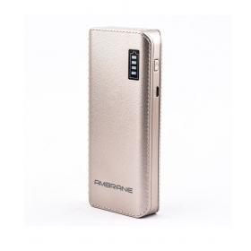 Ambrane P-1133 12500 -mah Li-ion Power Bank Golden