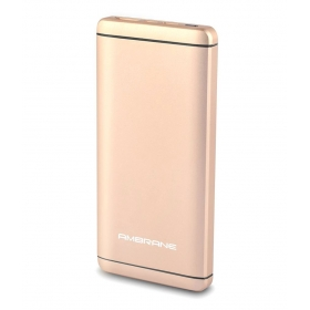 Ambrane Plush Pq 800 Quick Charging 8000 -mah Li-polymer Power Bank Golden