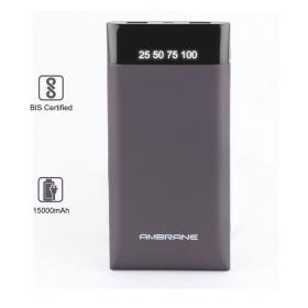Ambrane Pp-15 15000 -mah Li-polymer Power Bank Grey
