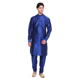 Amg Men's Silk Third Blue Kurta Third Blue Pyjama_amg-1004