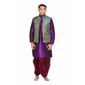 90974c2c53931 Amg Men s Silk Green Gold Waiscoat