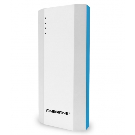 Ambrane P-1111 10000 Mah Power Bank - Blue & White - For Ios And Android Devices