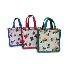 Multicolor Jute Handbag For Women - Combo Of 3