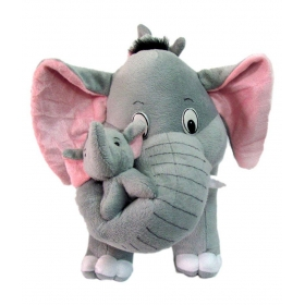 Mother Elephant With Two Babies - 45 Cm