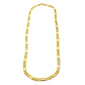 18ct Gold And Rodium Coated Chain For Men