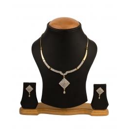 Alloy Jewel Set (white, Gold)