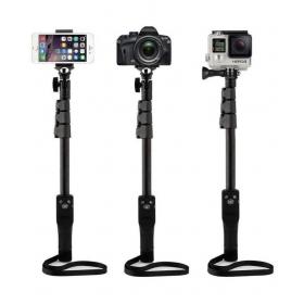 Black Bluetooth Selfie Stick - 119 Cm