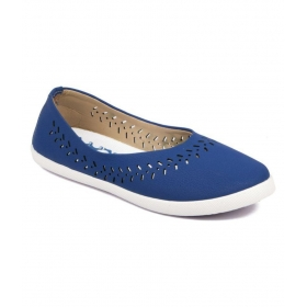 Asian Designer Navy Ballerinas