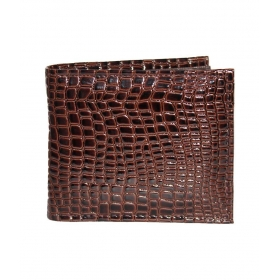 Brown Polyester Wallet