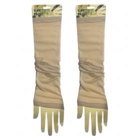 Beige Linen Arm Sleeves