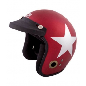 Autofy Habsolite Ecco Grey Star - Open Face Helmet Red M