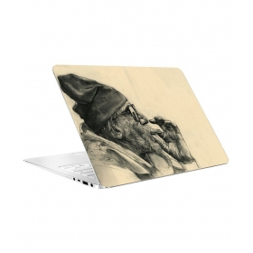 Styles Old Man Smoking Weed Laptop Skin