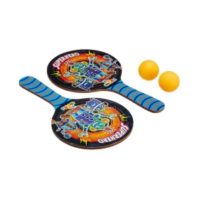 Multicolour Wooden Table Tennis Game Set For Kids