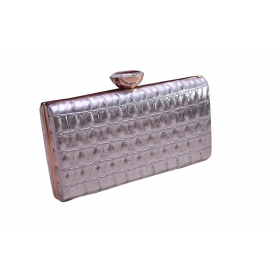 Exotic Croc Evening Clutch Silver