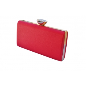 Crystal Croc Evening Clutch Red
