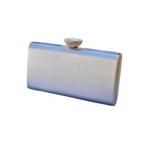 Elegant Crystal  Clutch Silver