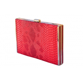Phyton Lady Box Clutch Red